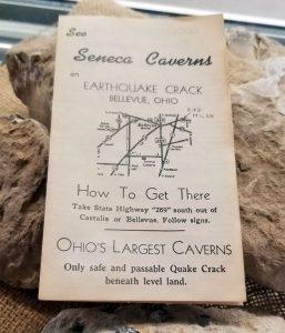 An original Seneca Caverns Ohio brochure from the 1950s